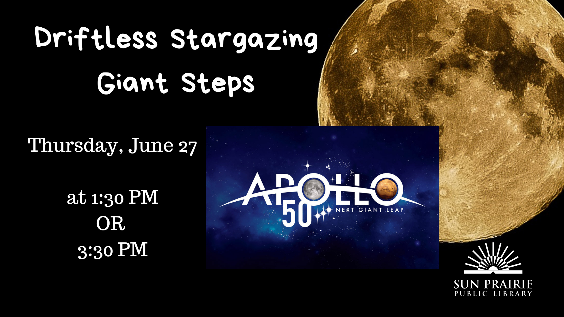 Driftless Stargazing: Giant Steps, Apollo 50th Aniversary image