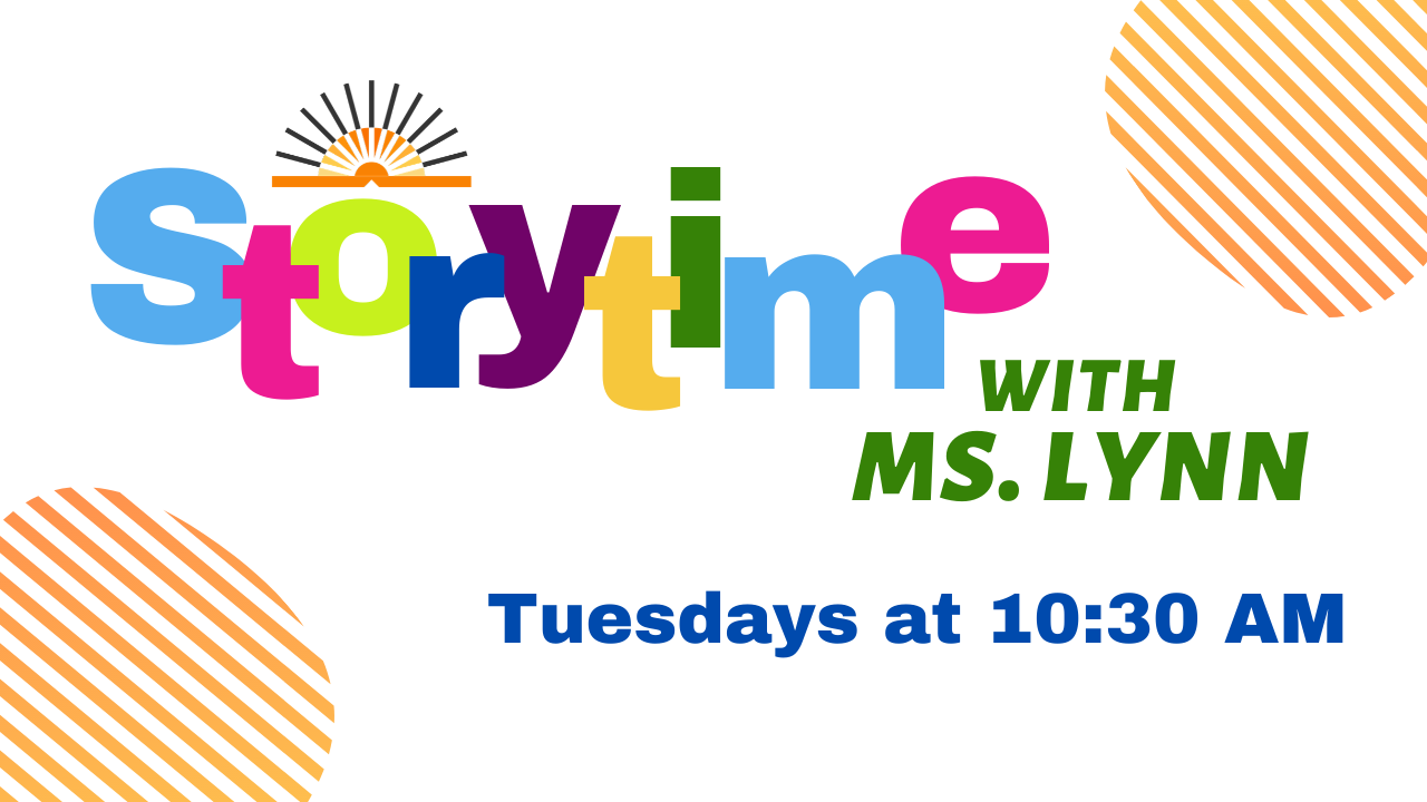 Storytime Online Tuesdays at 10:30 AM