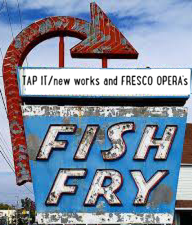 fish fry sign with large red arrow