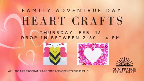 heart crafts, bee mine valentine, and dot paint heart